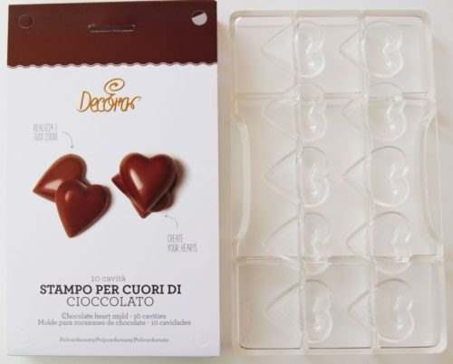 Chocolate mould hearts