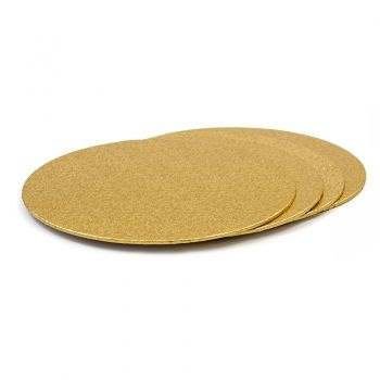 Cakeboard rond 22 cm goud
