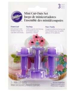 Wilton fondant mini cutters blossom/leaf set/3 (2)