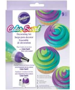 Wilton ColorSwirl TriColor Coupler Decor Set/9 (2)
