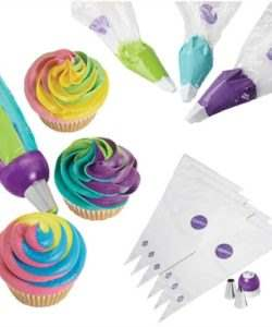 Wilton ColorSwirl TriColor Coupler Decor Set/9