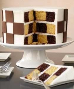 Wilton Checkerboard Cake Set/4 (2)