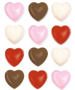 Wilton Candy Mold Hearts
