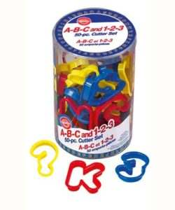 Wilton abc and 123 cutter set/50 (2)