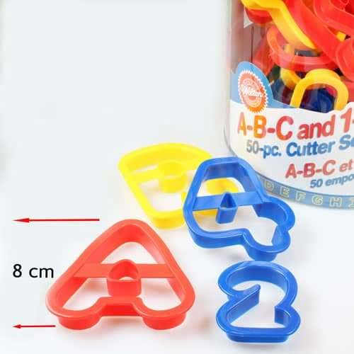 Wilton abc and 123 cutter set/50 (3)