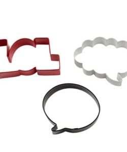 Wilton Cookie Cutter Set LOL/Talking Bubble