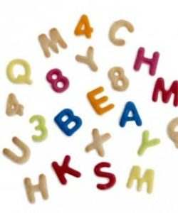 36 Cookie Cutters Alphabet&Numbers afm 2 x 1,6 cm