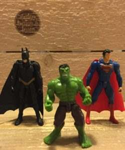 Plastic decoratieset Superheroes set van 6 (2)