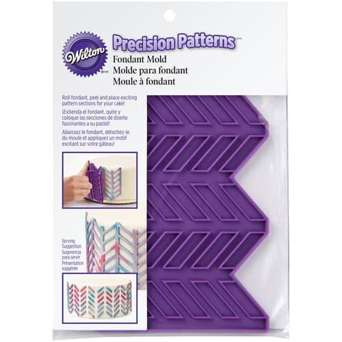 Wilton silicone precision patterns herringbone (2)
