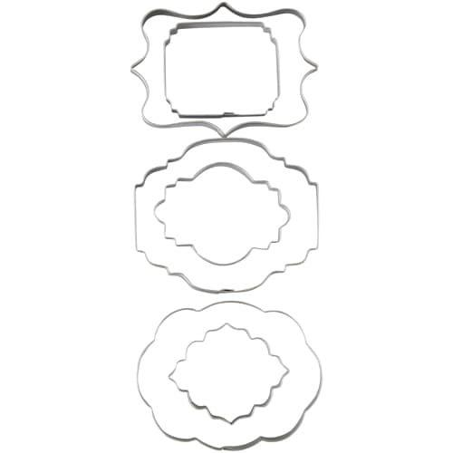 Wilton cutouts plaque set/6