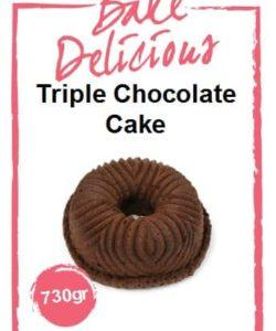 Bake Delicious Triple Chocolate cake 730gr