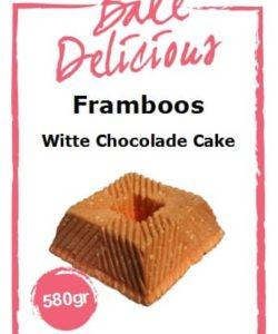 Bake Delicious Framboos Witte Chocolade cake 580gr