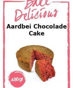 Bake Delicious Aardbei Chocolade cake  480gr