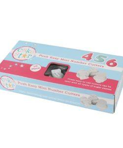 Cake Star Push Easy Cutters - Small Numbers