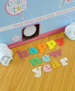 Cake Star Easy Push plungers Alphabet lower case