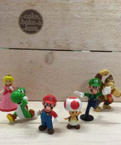 Plastic decoratieset Mario Bros set/6