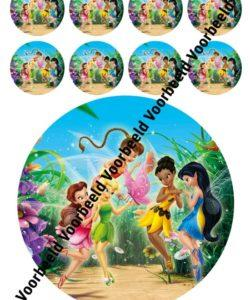 Tinkerbell 18 cm rond + 8 cupcakes