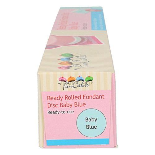 Funcakes ready rolled fondant disc -baby blue- (2)