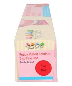 Funcakes ready rolled fondant disc -fire red- (2)