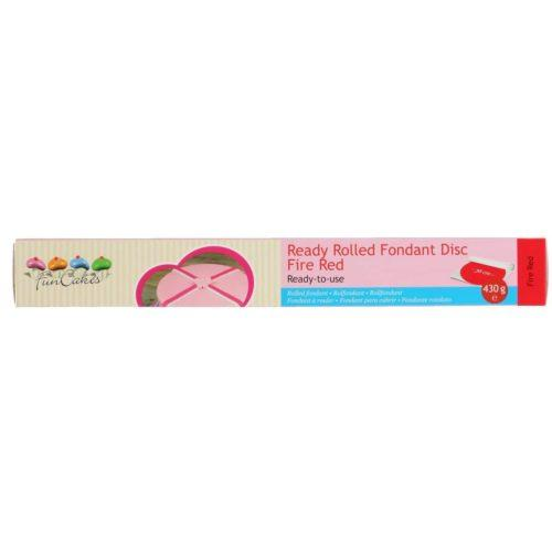 Funcakes ready rolled fondant disc -fire red-