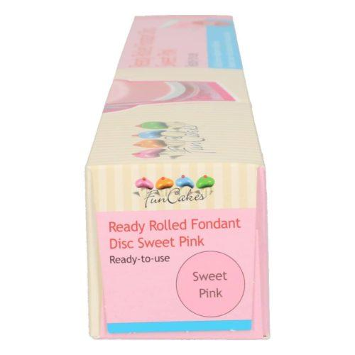 Funcakes ready rolled fondant disc -sweet pink- (2)