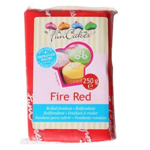 FunCakes Rolfondant Rood Fire Red 250 gr