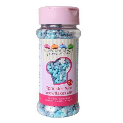 Funcakes mini sneeuwvlokken mix 55g