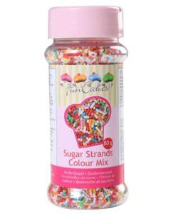 FunCakes Sugar Strands Colour Mix 80g