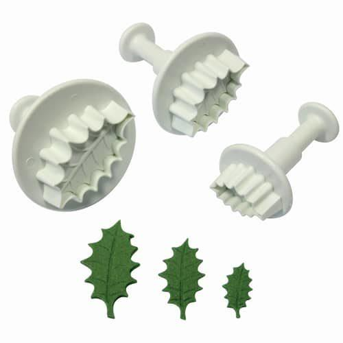 Pme holly leaf plunger cutter set/3