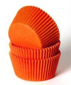 House of Marie Baking cups Oranje pk/50