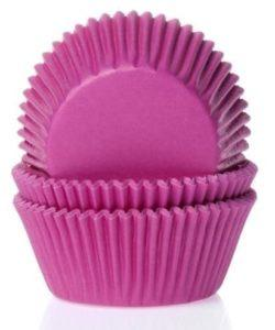 House of Marie Baking cups Fuchsia roze pk/50