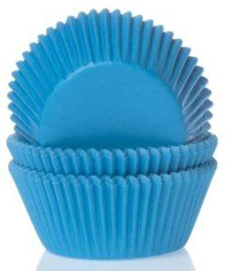 House of Marie Baking cups Cyaan blauw pk/50