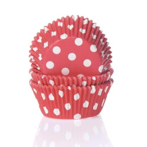 House of marie baking cups stip rood pk/50
