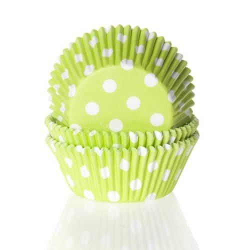 House of marie baking cups stip lime groen pk/50