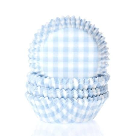 House of marie baking cups ruit pastel blauw pk/50