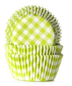 House of Marie Baking cups Ruit Lime Groen pk/50