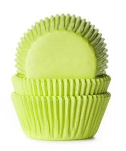 House of Marie Baking cups Lime Groen pk/50