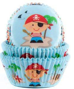 House of Marie Baking cups Pirate pk/50