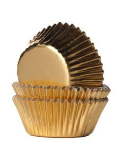 House of Marie Mini Baking Cups Folie Goud pk/36