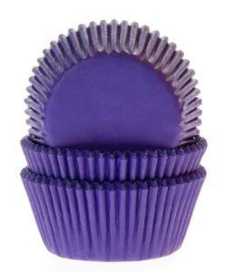 House of Marie Baking Cups Paars/Violet pk/50