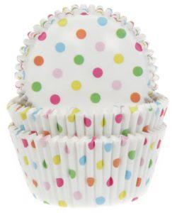 House of Marie Baking Cups Confetti pk/50