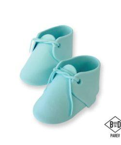 PME Edible Cake Topper Baby Bootee Blue pk/2