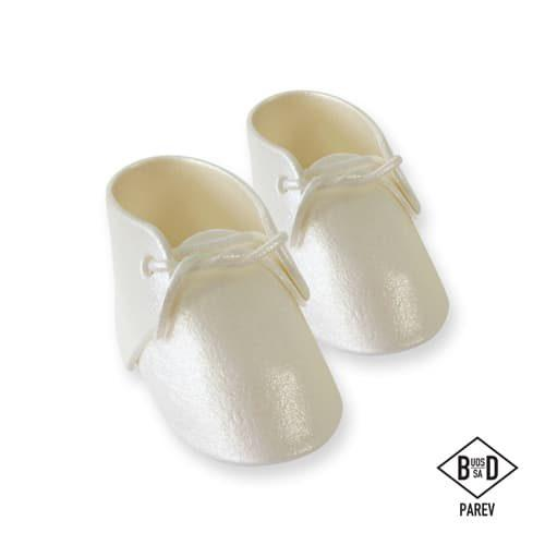 Pme edible cake topper baby bootee pearl pk/2