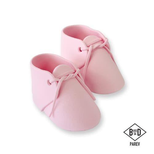 Pme edible cake topper baby bootee pink pk/2