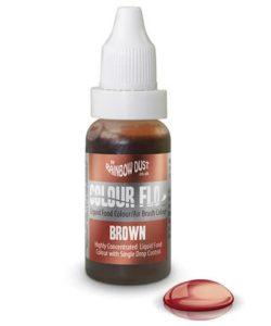 RD Colour Flo Airbrush Colour Brown 16ml