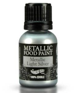 RD Metallic Food Paint Light Silver 25ml