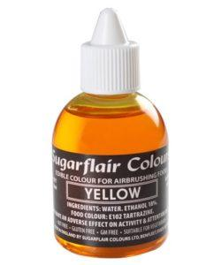 Sugarflair Airbrush Colouring Yellow 60ml