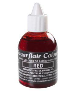 Sugarflair Airbrush Colouring Red 60ml