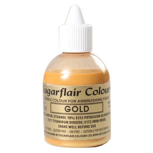 Sugarflair airbrush colouring gold 60ml
