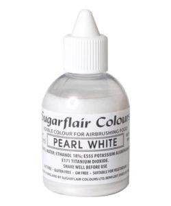 Sugarflair Airbrush Colouring Glitter Pearl White